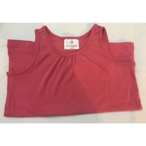 Hanna Andersson Girl's Ruched Crew Neck Tank Top